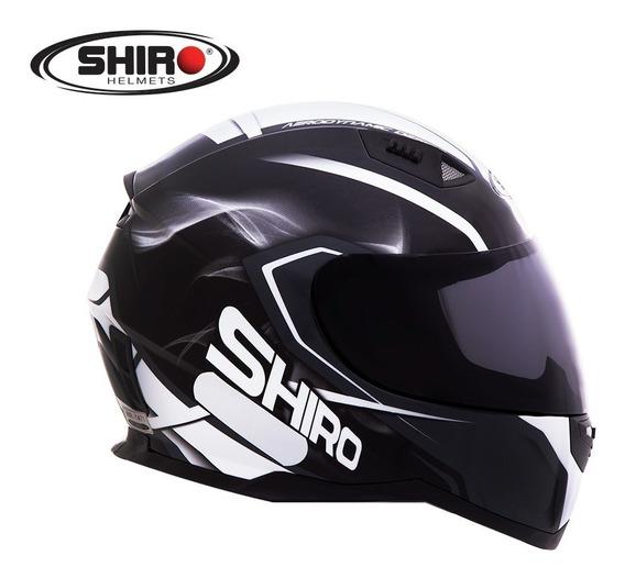 Capacete Shiro Sh 881 - Motegi - Preto/branco