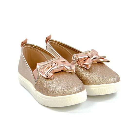 Sapato Molekinha 01/2018 2118110 Dour/ouro/rosado