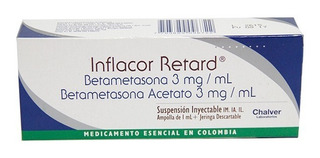 Inflacor Retard 3mg/3mg Caja X 1 Ampolla