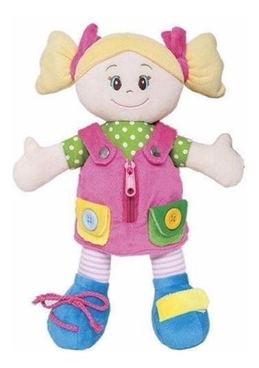 Boneca De Pano Aprendendo A Vestir Brinquedo Educativo Buba