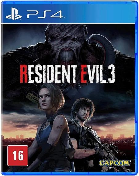 Resident Evil 3 Ps4 Jogo Mídia Física Envio Imediato