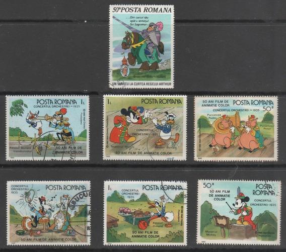 Romênia - Coleção De Selos Tema Disney - 8092