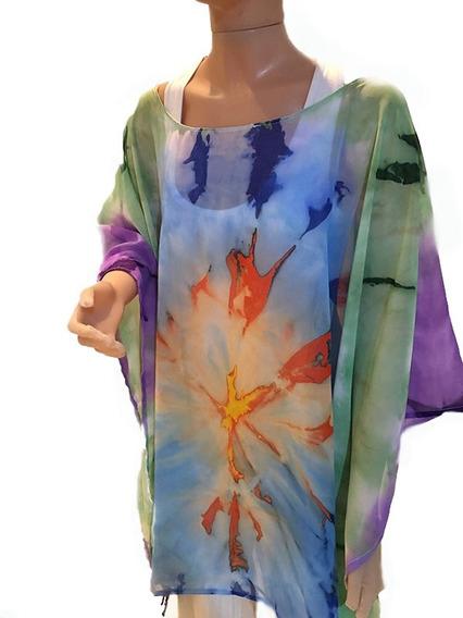 Tunicas Camisolas Pintadas A Mano Batik Talles Especiales
