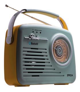 Radio Spica Sp110 Retro Usb Bluetooth Recargable
