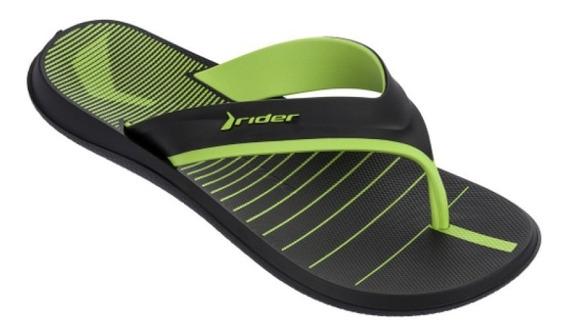 Chinelo Rider R Line 10803 Preto/verde