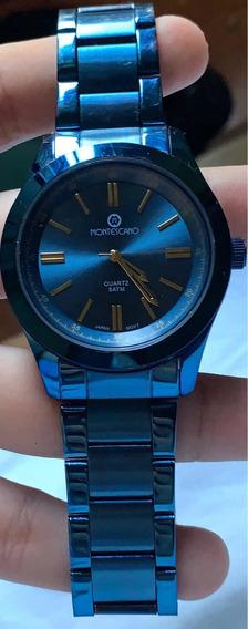 Reloj Montescano Acero Inoxidable Azul