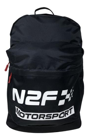 Backpack Mochila N2f Motorsport Bp004 Color Azul Y Rojo