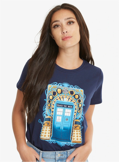 Dr Who Bbc Tardis Playera Dama Manga Corta Hot Topic Import