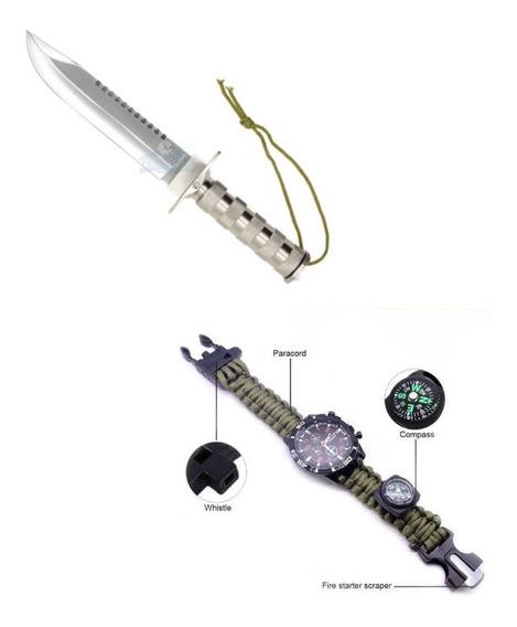 Relógio Tático , Faca Rambo