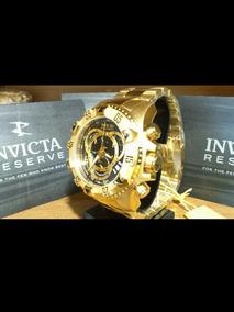 Relógio Invicta Reserve Excursion Preto-gold Original