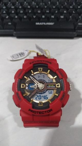 Relógio Vermelho Masculino Surf More