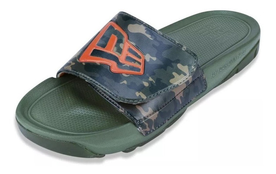 Chinelo New Era Slip-on Branded Camo Verde Original