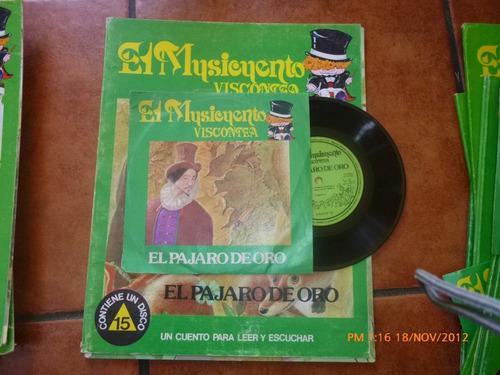 Vinilo Single Del  Cuento Flautista De Hamelin Más Libro(834