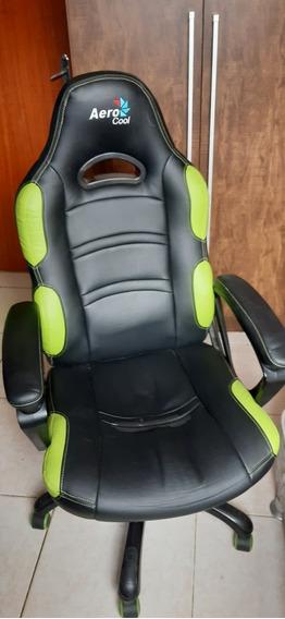 Cadeira Gamer Aerocool Ac80c Preta/verde