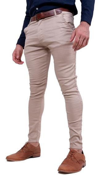 Pantalon Cargo Hombre Corte Chino Chupin