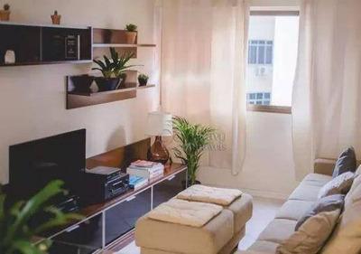 Flat Residencial Para Locação, Leblon, Rio De Janeiro. - Fl0200