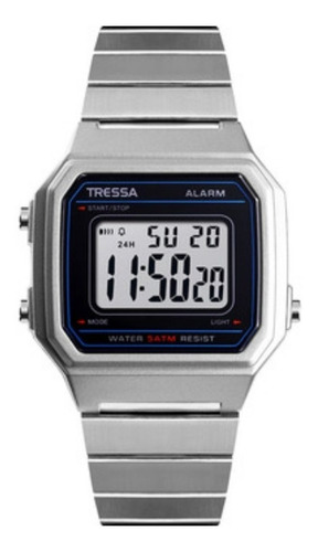 Reloj Tressa Vintage Digital Modelo Mojito M Plateado