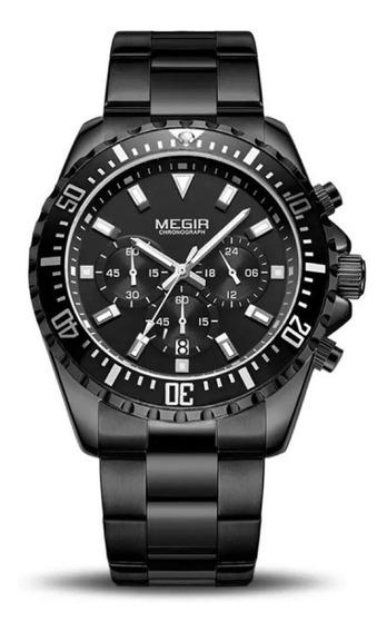 Relógio Masculino Megir Luxo Esportivo,aço,metal
