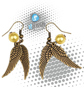 c87c2ee05884 Aretes De Golden Snitch Quidditch De Harry Potter Joyeria - Aretes ...