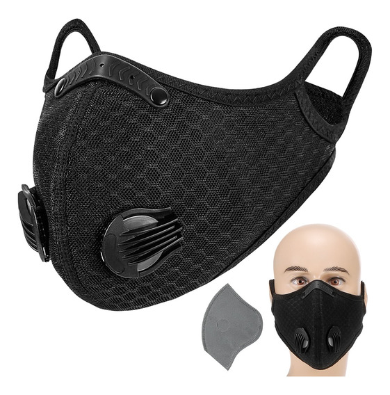 Máscara De Fibra De Carbono Para Adultos Com Regulagem