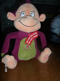 Macaco Importado Hallmark Interativo Ri E Sente Cócegas 26cm
