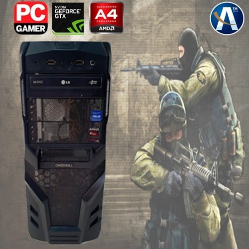 Pc Cpu Gamer Amd A4 8gb Ssd 240 + Hd 500gb Geforce Gtx 560ti