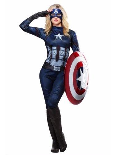 Disfraz Adulto Mujer Capitán America Traje Sexy Avengers