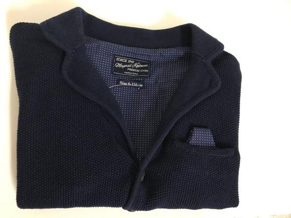 Sweater Sport Clasico Elegante Azul Talla 6 Años