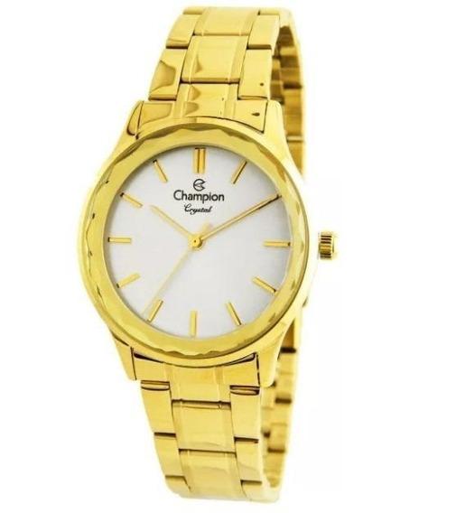 Relógio Champion Feminino Cn25574h Metal Dourado