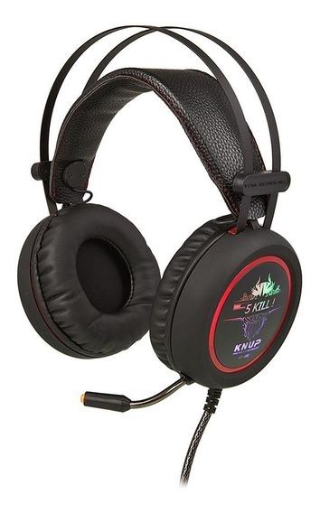 Fone Headset Gamer 7.1 Pc Knup Kp400 P2 Microfone Usb Led