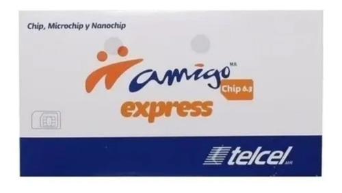 Tarjeta Sim 2g 3g Chip Telcel 4.5g Ver 6.4 Amigo Lada 33