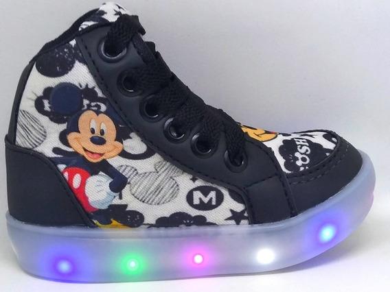 Botinha Mickey Mouse Led Personagem Brinde Um Par De Meia
