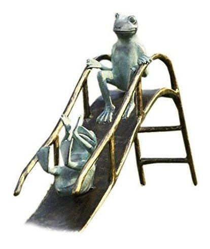 Imagen 1 de 1 de Escultura De Jardin De Ranas Deslizante De Aluminio Spi Hom