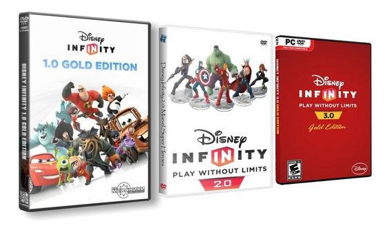 Disney Infinity 1.0 - 2.0 - 3.0 - Pc Dvd - Frete 8 Reais