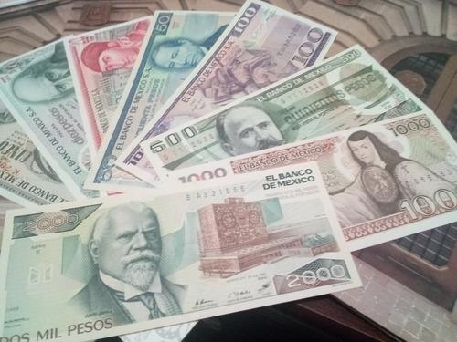 Coleccion 8 Billetes Mexicanos Sin Circular 5 A 2,000 ...