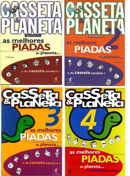 Lote C/ 4 Livros As Melhores Piadas Do Planeta..