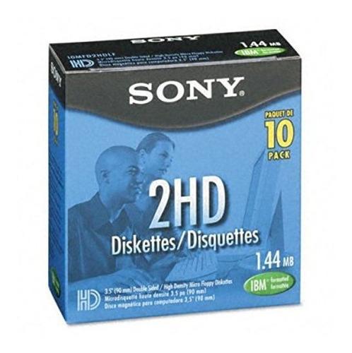 Sony 10mfd2hdlf 2hd Disquetes Con Formato Ibm De 3,5 Pulgada