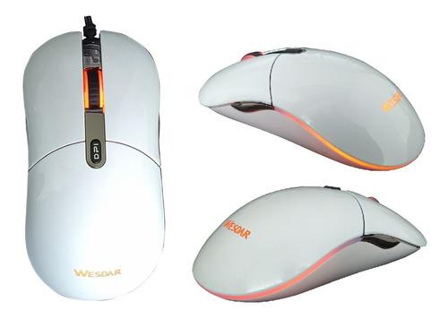 Mouse Gamer Wesdar X5 4000dpi 6 Botones Led Brillante @pd