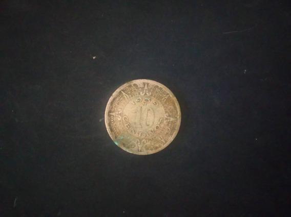 Moneda De Los Est. Unidos Mexicanos 10 Cent. Año 1939 (#126)