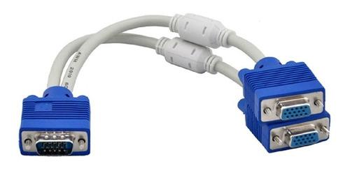 Imagen 1 de 3 de Cable Splitter Multiplicador Y Vga 1 Entrada 2 Salidas