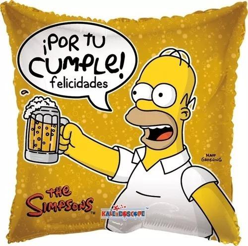 Imagen 1 de 1 de 4 Globo Homero Cerveza Centro Mesa Met 9in Simpsons Cumple