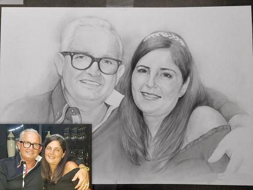 Dibujo: Retratos Y Dibujos A Lápiz Por Encargo A Pedido.