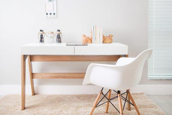 Escrivaninha De Escritório Office Retrô Design Pés Palito