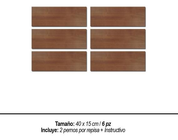 Repisas Flotantes Set 6 Pzas Modernas Minimalistas 40 X 15