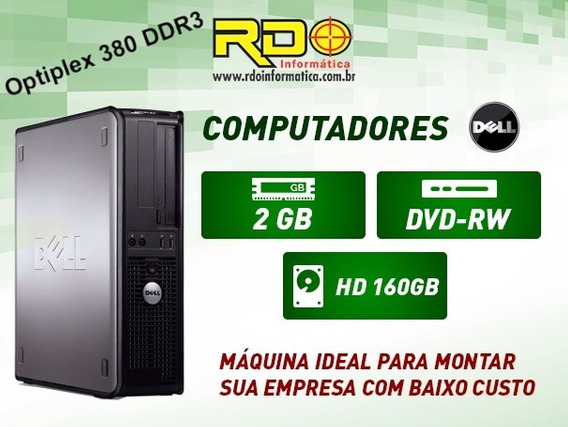Pc Cpu Dell Optiplex 380 Core2duo 2gb Ddr3 Hd 160 Gb Brinde