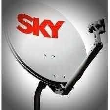 5 Antena Ku 60 Cm Logo Sky 5 Lnb Simples 1 Caixa Cabo 100mts