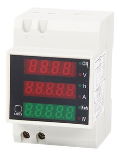 Sensor Energia Wattimetro Din Watt Voltimetro Amperimetro