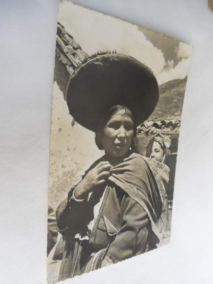 Postal India Con Niño Pisac Peru