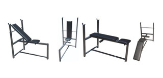 Banco Multiangular Abdominales Plegable Multigimnasio