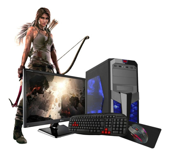 Pc Gamer 7480 A6 3.8ghz 16gb Hdtb Ssd120 R5 Tela19 Kit Gamer